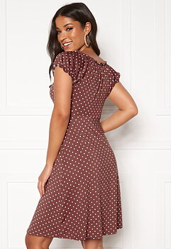 Tessan Dress - Dusty Pink/Dotted
