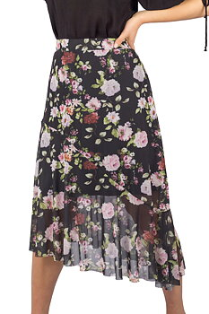 FLORIA SKIRT BLACL/ROSE/MAGNOLIA