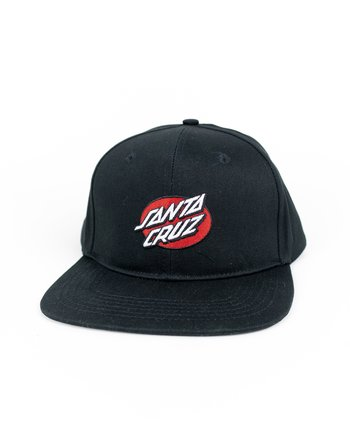 Santa Cruz - Oval Dot Snapback Black