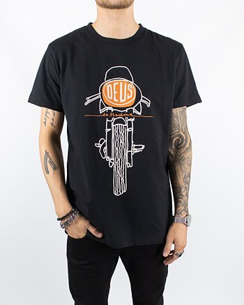DEUS Ex Machina - Frontal Matchless Tee Black