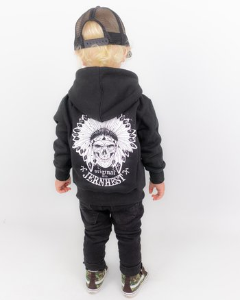 Jernhest - Little Native Zip Hood Black