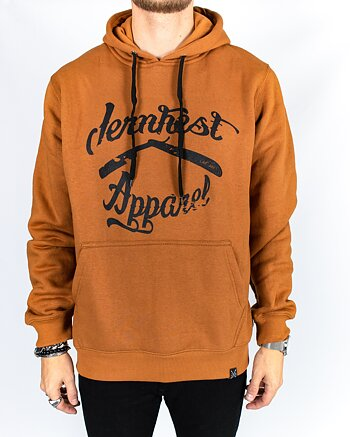 Jernhest - Vintage Logo Hood Rust Brown