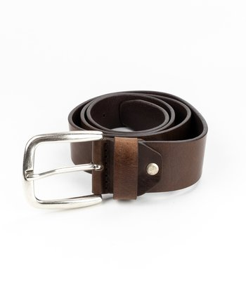 Lee Jeans - Leather Belt Dark Brown