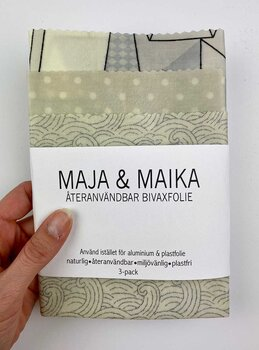 Gråa toner- bivaxfolie 3-pack
