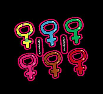 """Klistermärken – """"Feministkarta"""""""