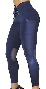 Raw By Adriana Kuhl Tights Glow Deep Blue