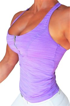 RAW By Adriana Kuhl Zip Tanktop Soft Purple