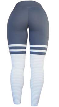RAW By Adriana Kuhl High Sox Leggings Grey/White