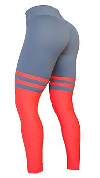 RAW By Adriana Kuhl High Sox Leggings Grey/Red