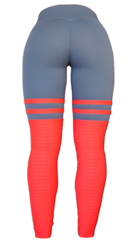 RAW By Adriana Kuhl High Sox Leggings Grey/Red