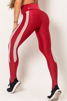 HIPKINI Stripes Tights Red