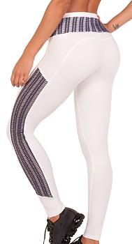 Bia Brazil Tights 5138 White/Mesh Lavendel