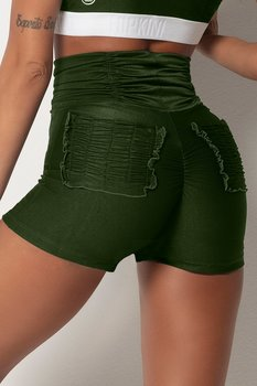 HIPKINI Ruffle Shorts Army