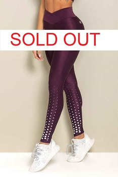 HIPKINI Spots Scrunch Tights  Maroon