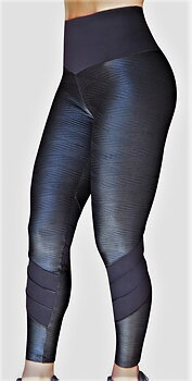 Raw By Adriana Kuhl Tights Crush Shiny Black
