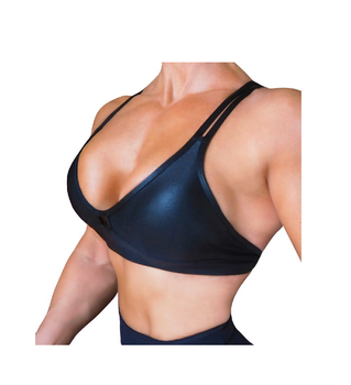 RAW By Adriana Kuhl Crush Sports Bra Metallic Black