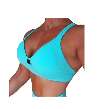 RAW By Adriana Kuhl Crush Sports Bra Baby Blue