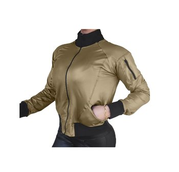 Raw By Adriana Kuhl Bomber Jacket Shiny Army