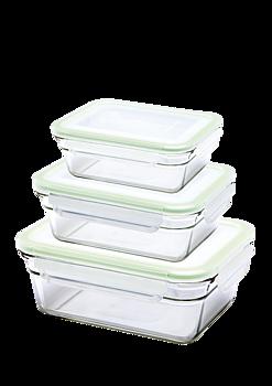 Matlådor 3-pack rektangulära - ugn