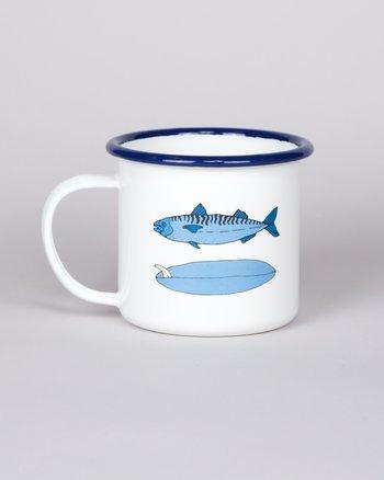 Enamel Cup 6/5/4 - Fish / Singlefin