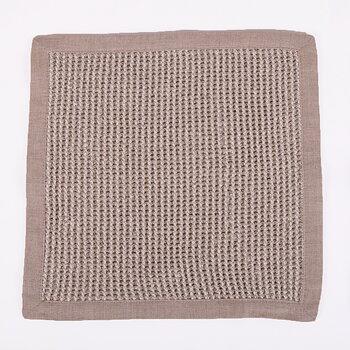 Linen bath mat