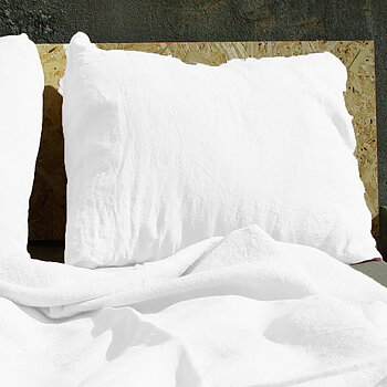 Linen pillow case - white