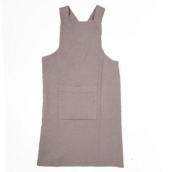 Natur  - linen  - cross apron