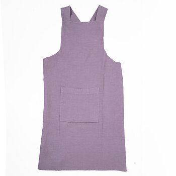 Pale violet  - linen  - cross apron