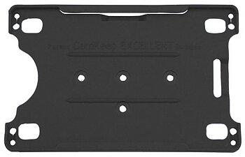 Korthållare för 1 kort   svart