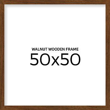 Walnut wooden frame 50x50 cm