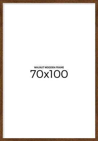 Valnøtt treramme 70x100 cm