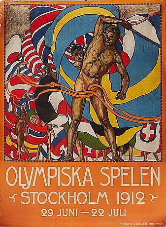 AFFISCH STOCKHOLMS OS 1912