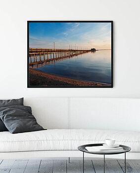 Canvas print - Långbryggan in Rättvik