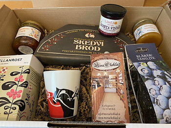A box of goodies from Dalarna - We send with a value check and a Dala mug!