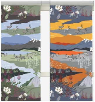 Panel Curtains - Fjällvandring 43x240 cm 2-Pack