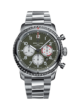Aviator 8 B01 Chronograph 43mm Curtiss Warhawk Grön