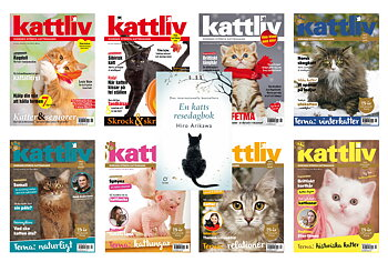 Prenumeration helår 8 nr Sverige med premiebok En katts resedagbok