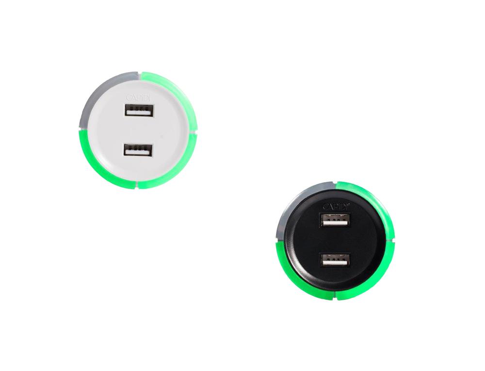 USB laddare med säkerhetstimer 1x4h