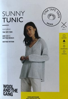 STICKMÖNSTER SUNNY TUNIC - TINA TAPE YARN