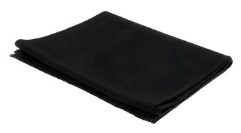 Retro scarf, svart från CTH Ericson, slät, mjuk, varm och skön