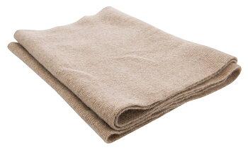 Stickad cashmere scarf, sand från CTH Ericson, slätstickad, mjuk, varm och skön