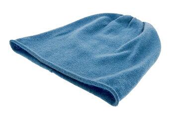 Stickad beanie, cashmeremössa, blå från CTH Ericson, mjuk, varm och skön