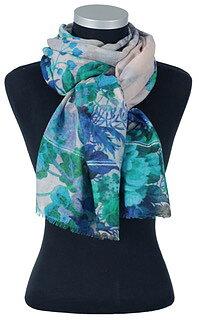 Mönstrad, vacker sjal från LindaLykke