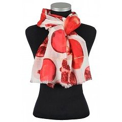 Alma, sjal från LindaLykke, röda granatöpplen