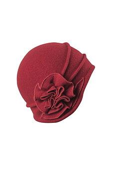 Hermione, snygg 20-tals inspirerad mösshatt, röd från KNCollection