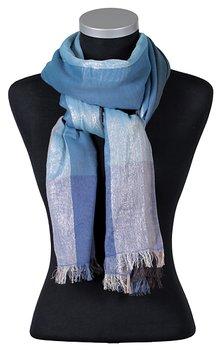 Petra, snygg blå sjal från LindaLykke