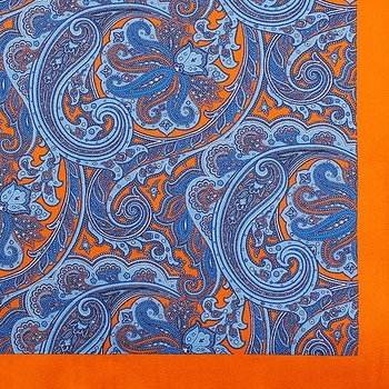 Pocketsquare/Ficknäsduk orange paisley, A.Christensen