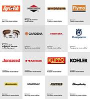 Reservdelar uppdelat efter varumärke