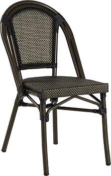 Paris stol, textylene svart/brun