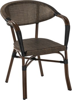 Monaco karmstol, svart/brun
